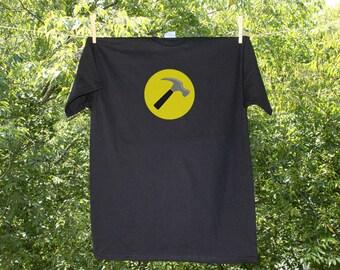 Captain Hammer - Hammer Time Handyman Shirt // Black Shirt
