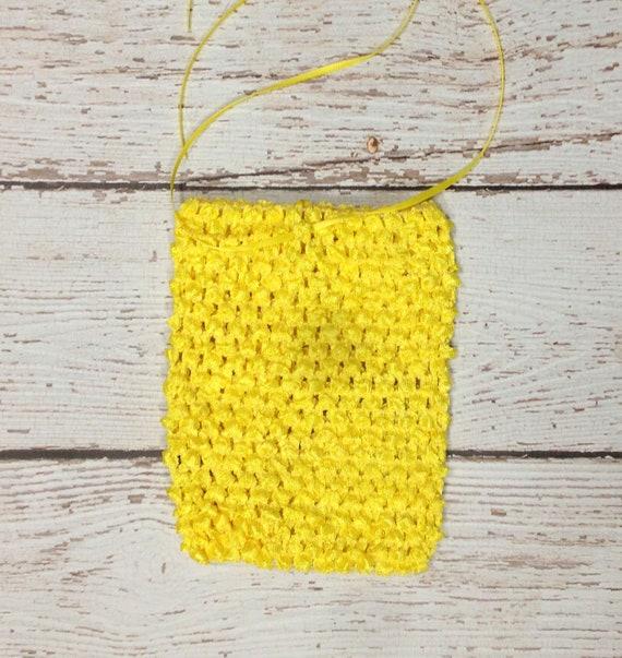 "6"" Crochet Tutu Tube Top - Yellow"