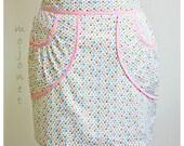Colorful Polka Dot Mini Skirt With Pockets