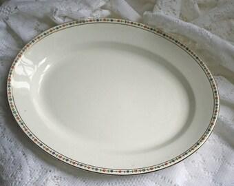 Vintage Serving Platter John Maddock and Sons Ltd English China