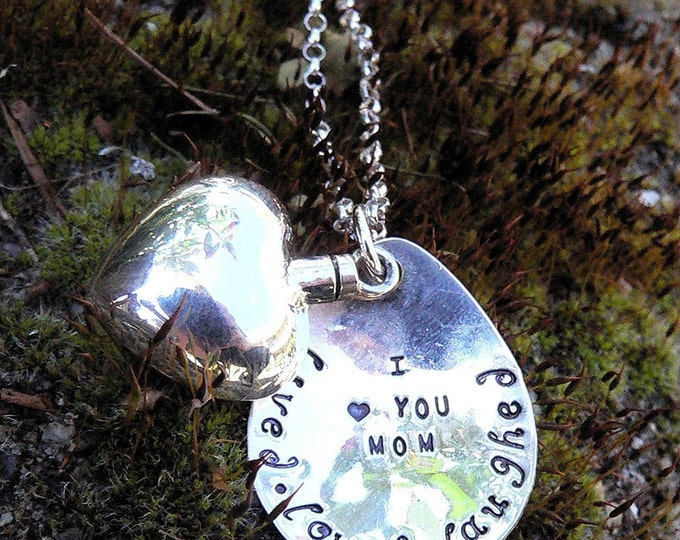 Custom Sterling Silver Remembrance or Loss Necklace - Vessel Urn