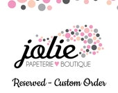 RESERVED Custom Listing for Juhli
