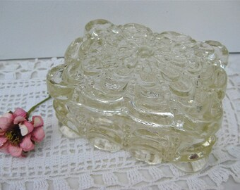 Pressed Glass Box for your Dresser or Vanity