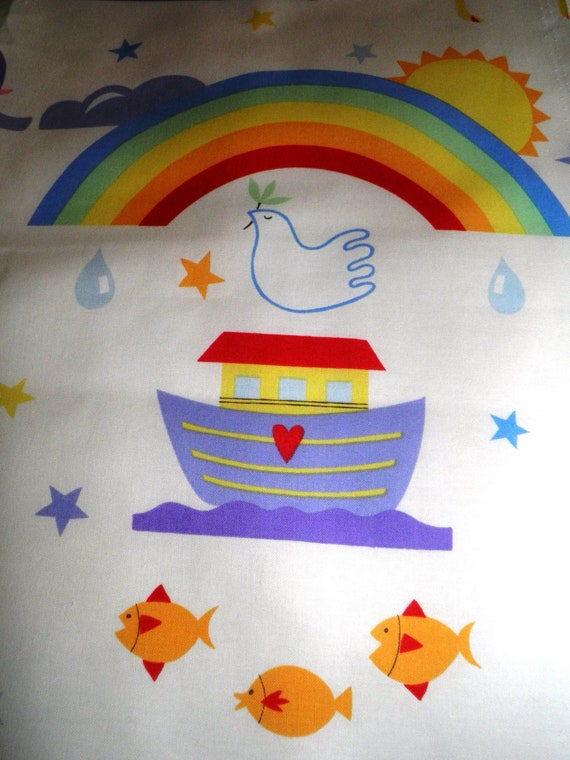 "Alexander Henry Noah's Ark Pattern, Juvenile Novelty Cotton Fabric,New,1 yd x44"" wide"