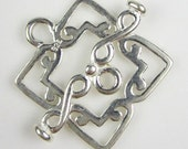 Sterling Silver Square Toggle
