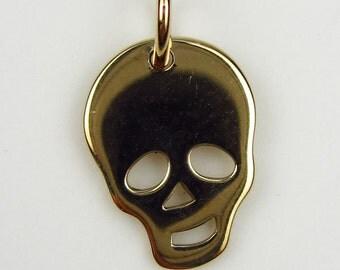 Natural Bronze Skull Charm