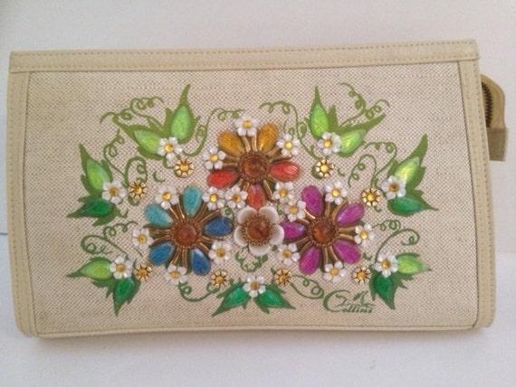 Enid Collins Vintage Bag: Flower Clutch
