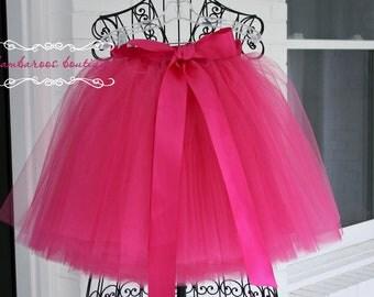 hot pink tutu, flower girl dress, sewn tutus, chic tutus, luxurious tutus