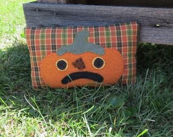 Primitive Pumpkin Pillow
