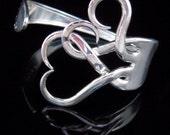 Silver Fork Bracelet in Original Intertwining Hearts Design
