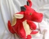 custom order - Ragnar baby dragon plush - fleece or cotton