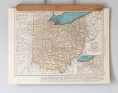 1930s Antique State Maps of Ohio and Oklahoma