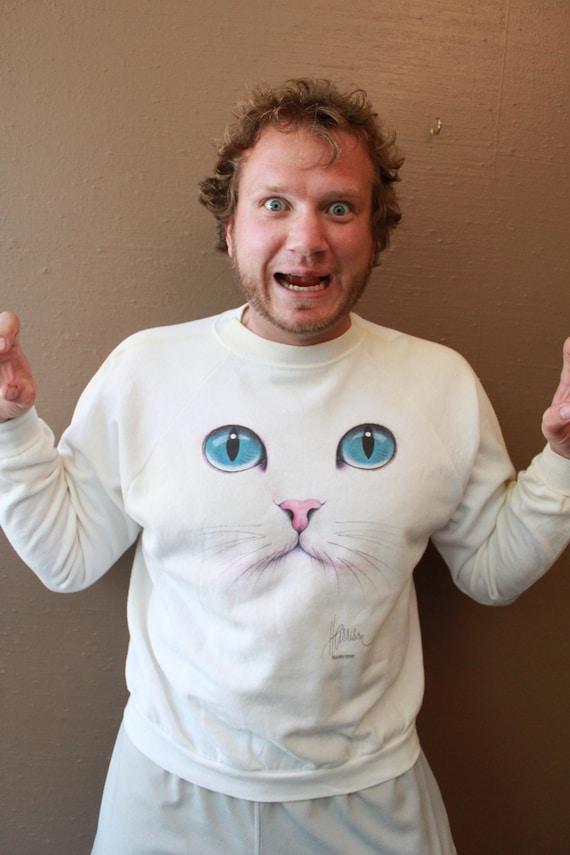 Vintage Cat Sweatshirt By bob Harrison