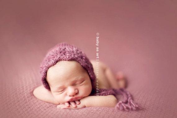 Purple Newborn Wildwood Bonnet