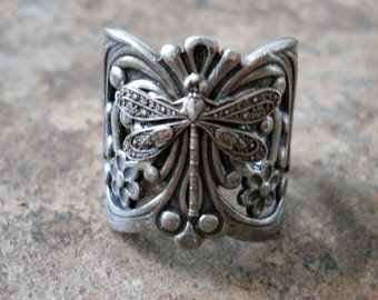 Dragonfly Filigree Silver Ring EXCLUSIVE DESIGN
