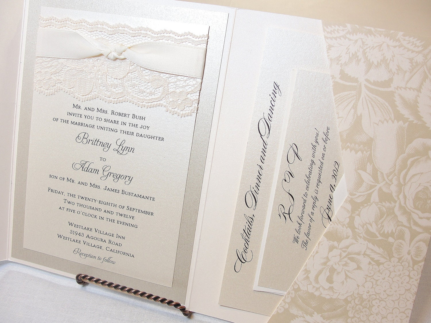 Wedding Invitation Lace: Lace Wedding Invitations Lace Wedding Invite By