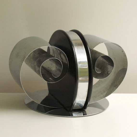 RESERVED FOR GAIL Vintage Bookends - Art Deco Chrome