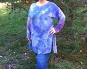 one of a kind shibori hand dyed silk tunic
