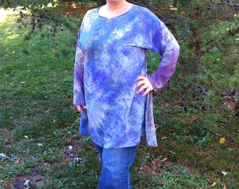 one of a kind shibori hand dyed silk tunic