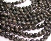 Larvikite -  black labradorite - 8mm -  A Quality - full strand - 48 pcs - Gemstone - RFG309