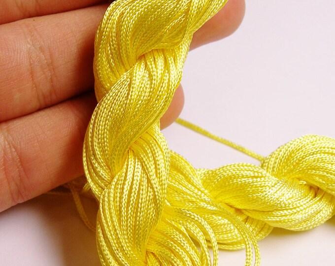 Knotting cord - nylon - beading cord - 50 meter - 164 foot - yellow