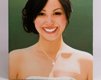 Custom portrait paintings from a photo, up to 30x40 inches. 100% money-back guarantee