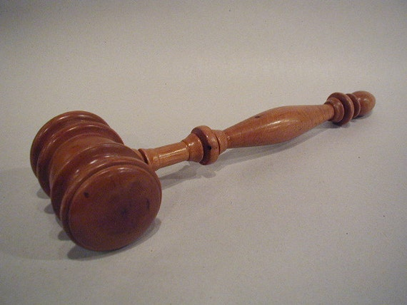 Vintage Gavel Maple or Cherry or Pecan Hand Turned For the Leader in Your Life