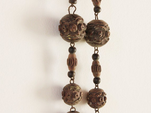 Vintage monastic rosary, An huge wooden rosary