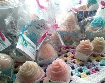 10 Cupcake Soaps shea butter and goat's milk soap (small 1.25 oz) you select scent and color ultra rich