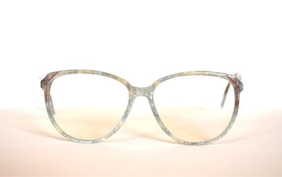 retro vintage Oversized marble sunglasses eyeglasses Metzler Vogue Germany