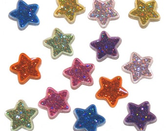 Jesse James Button Embellishments Glitter Stars Themed Novelty Buttons Holiday