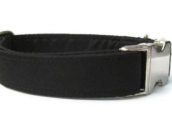 Black Satin Dog Collar