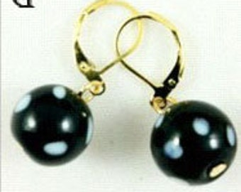Cape Verde Conta Evil Eye Bead Earrings
