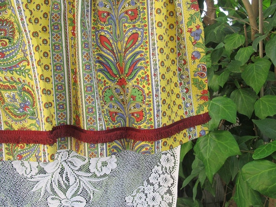 french vintage Provence curtain valance