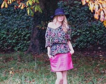 Zara, French Vintage,1970s Black Multicolour Sequin, XL Top, from Paris