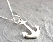 Tiny Anchor Sterling Handmade Pendant