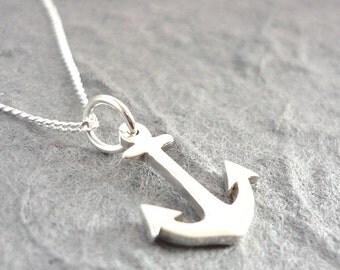 Tiny Anchor Sterling Handmade Pendant