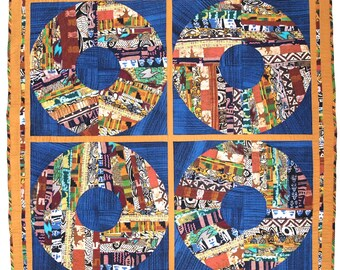 "Original Quilt - ""Four Ever Round"" 2005 (53"" x 53"")"