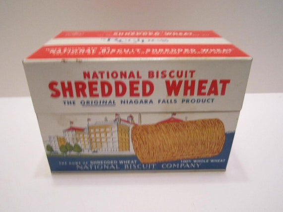 Shredded Wheat Vintage Recipe Box Nabisco Co 1973