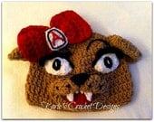 U of A / Wilma / University of Arizona Mascot / Beanie / Hat Crocheted