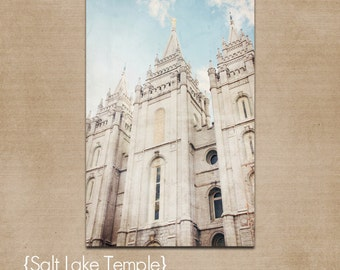 Printable Salt Lake LDS Temple- Customizable
