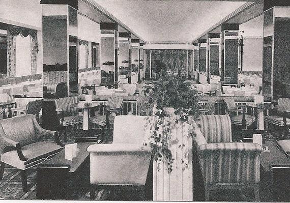 Mid Century Dining - Pall Mall Room Cocktail Lounge Hotel Raleigh - Washington DC Memorabilia