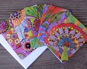 NOTECARDS-set of 5 cards with artwork envelopes included blank inside