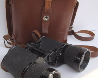 Vintage Binoculars SKK Toyko Occoupied Japan With Leather case  From 40s  Unique