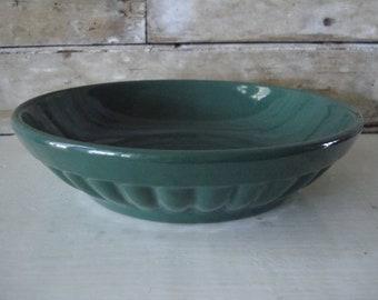 Vintage Haeger Bowl Green Unique Shabby Chic