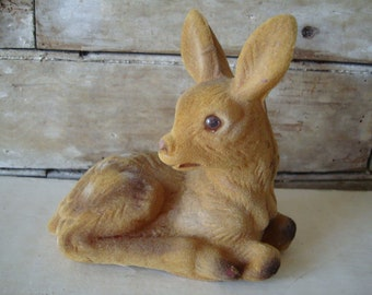 Vintage Felted Deer or Fawn