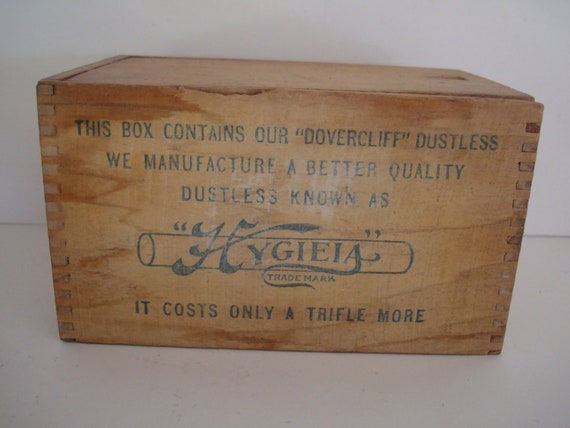 Vintage Crayon Wooden Box Old Faithful Dovercliff Rustic Farm House style Shabby Chic Box RARE