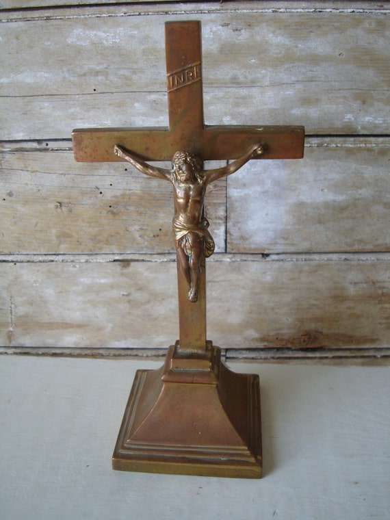 Vintage Religious Brass Jesus Figurine Rare Find