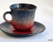 Midnight Tea Cup and Saucer
