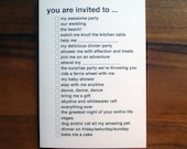 all purpose you are invited greeting card - black